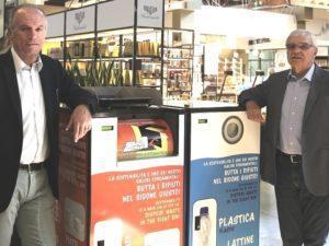Liborio Pettinella a Fico Eataly per l'installazione dei compattatori di rifiuti Superlizzy