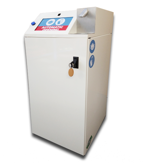 Superlizzy sanitrash bidone compattatore con apertura automatica per dispositivi sanitari persoanli mascherine guanti covid-19